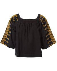 Vanessa Bruno Black Cotton Top