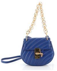 Chloé - Drew Blue Leather Handbag - Lyst