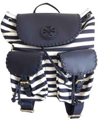 Tory Burch - Navy Polyester Backpacks - Lyst