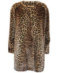 Moschino Brown Faux Fur Coat