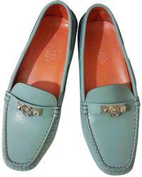 Hermès - Patent Leather Flats - Lyst