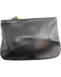 Loewe - Black Leather Small Bag, Wallets & Cases - Lyst
