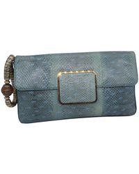 Sonia Rykiel - Pre-owned Blue Water Snake Clutch Bag - Lyst 79b65bf666c62