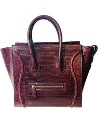 Céline - Luggage Phantom Crocodile Handbag - Lyst