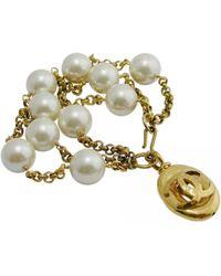 Chanel - Pre-owned Vintage Gold Metal Bracelets - Lyst