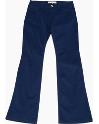 Emilio Pucci - Pre-owned Navy Cotton - Elasthane Jeans - Lyst
