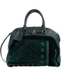 Burberry - Green Leather Handbag - Lyst