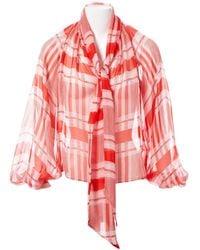 Temperley London - Red Silk Top - Lyst