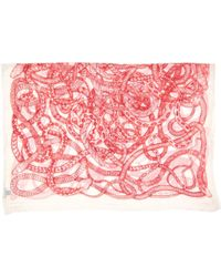 Barbara Bui - Pre-owned White Synthetic Scarves - Lyst