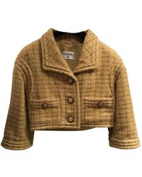 Chanel - Pre-owned Yellow Wool Jackets - Lyst
