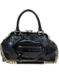 Marc Jacobs - Stam Black Patent Leather Handbag - Lyst