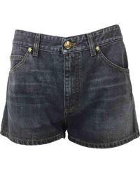 Versace - Grey Cotton Shorts - Lyst