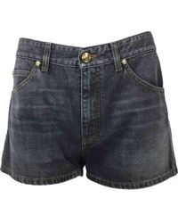 Versace - Pre-owned Grey Cotton Shorts - Lyst