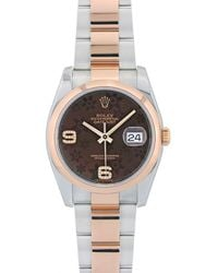 Rolex - Pre-owned Datejust 36mm Brown Gold And Steel Watches - Lyst