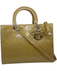 Dior - Pre-owned Lady Patent Leather Handbag - Lyst