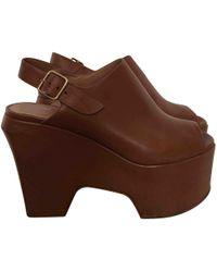 Dries Van Noten - Pre-owned Leather Heels - Lyst