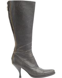 Miu Miu - Leather Riding Boots - Lyst