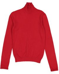 Louis Vuitton - Pre-owned Red Cashmere Knitwear - Lyst