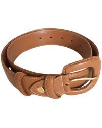 Longchamp - Pre-owned Leather Belt - Lyst