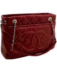 Chanel - Red Leather Handbag - Lyst
