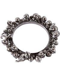 Chanel - Pre-owned Grey Metal Bracelets - Lyst