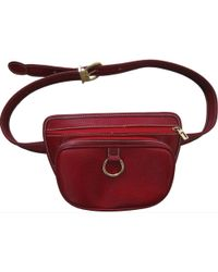 Lancel - Burgundy Leather Belt Bag - Lyst