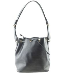 Louis Vuitton - Noé Black Leather Handbag - Lyst