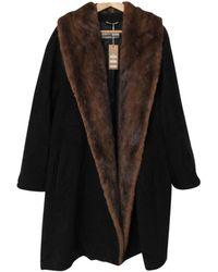 Max Mara Black Wool Coats