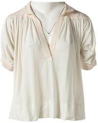 Chloé - Pre-owned Ecru Cotton Top - Lyst
