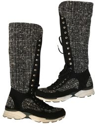 Chanel - Pre-owned Cloth Boots - Lyst
