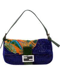 e52c1ac050 Fendi 3Baguette Calf-Leather Shoulder Bag in White - Lyst