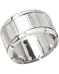 Cartier - Pre-owned Tank Française White Gold Ring - Lyst