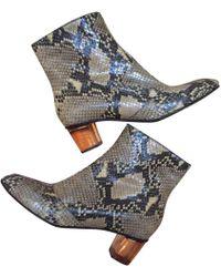 Dries Van Noten - Python Ankle Boots - Lyst