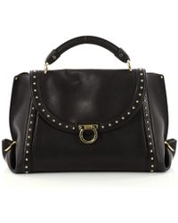 Ferragamo - Pre-owned Black Leather Handbag - Lyst
