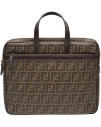 Fendi - Roll Bag Brown Cloth - Lyst
