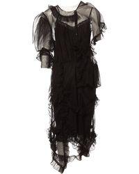 3636d8e0cfda0 Simone Rocha Tulle T-shirt Dress in Black - Lyst