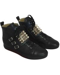 Hermès - Pre-owned Leather High Trainers - Lyst