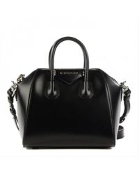 5458c6dcd3f7 Lyst - Givenchy Black Medium Antigona Bag in Black