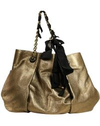 Lanvin - Pre-owned Gold Leather Handbags - Lyst