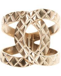 Chanel - Gold Metal Bracelets - Lyst