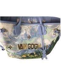 Louis Vuitton - Neverfull Blue Cloth Handbag - Lyst