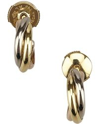 Cartier - Pre-owned Trinity Yellow Gold Earrings - Lyst