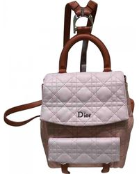 Dior - Pre-owned Pink Leather Backpacks - Lyst