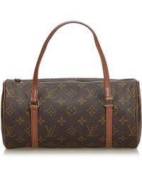 Louis Vuitton - Papillon Leinen Handtaschen - Lyst