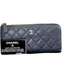 806d5f71f694 Lyst - Chanel Pre-owned Wallet On Chain Leather Clutch Bag in Metallic