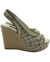 Louis Vuitton - Pre-owned Cloth Sandals - Lyst