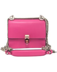 776243123cf8 Fendi Borsa Kan I Shoulder Bag in Pink - Lyst