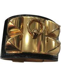 Hermès - Collier De Chien Black Alligator Bracelets - Lyst