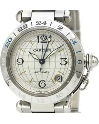Cartier - Pasha Gmt Silver Steel - Lyst