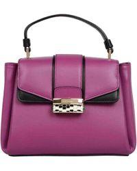 BVLGARI - Purple Leather Handbag - Lyst